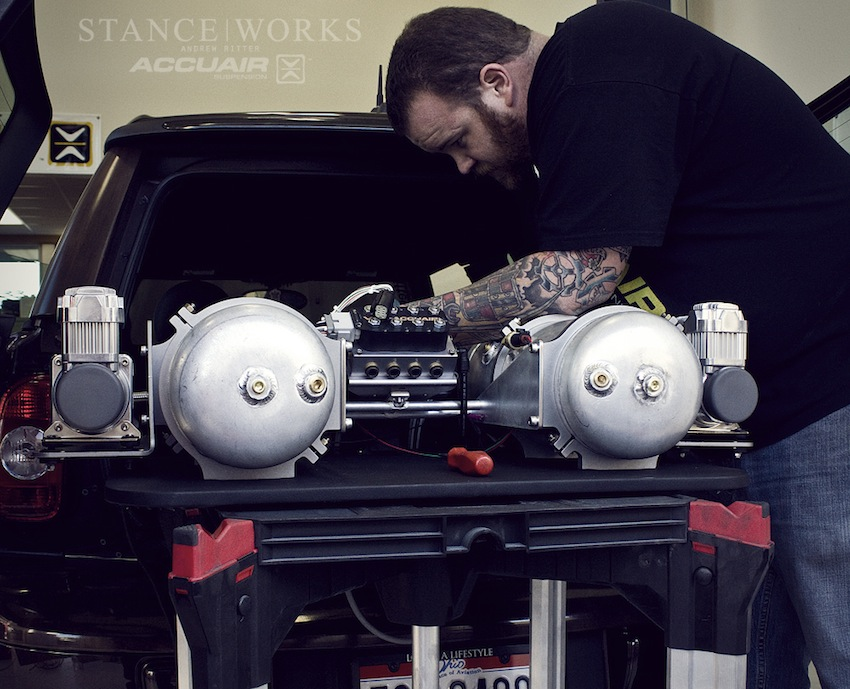 the accuair experience part 1 install stanceworks finally we have derek inspecting the hardware setup and running all wires into the ecu before final installation part ii of our journey to accuair will