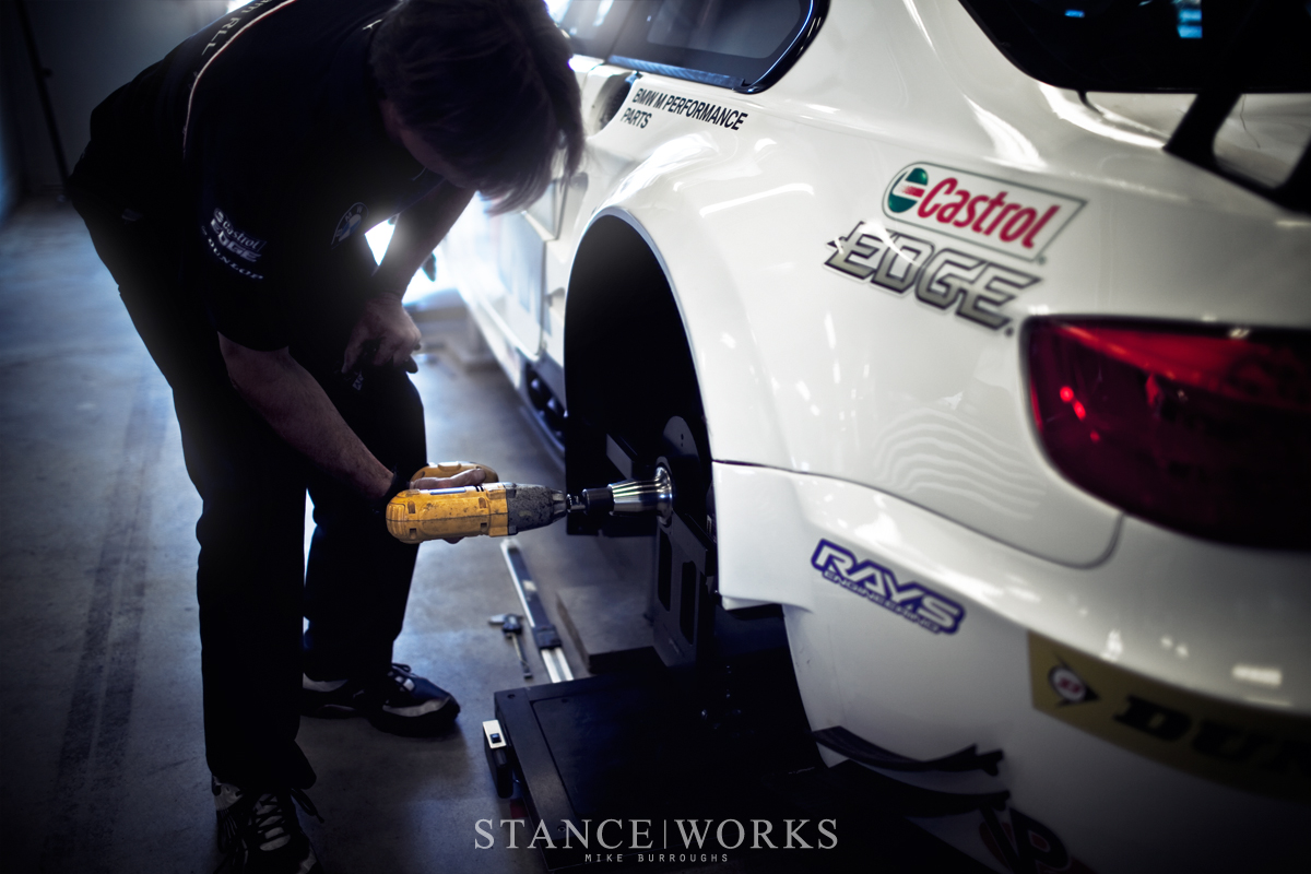 BMW Team RLL ALMS paddock