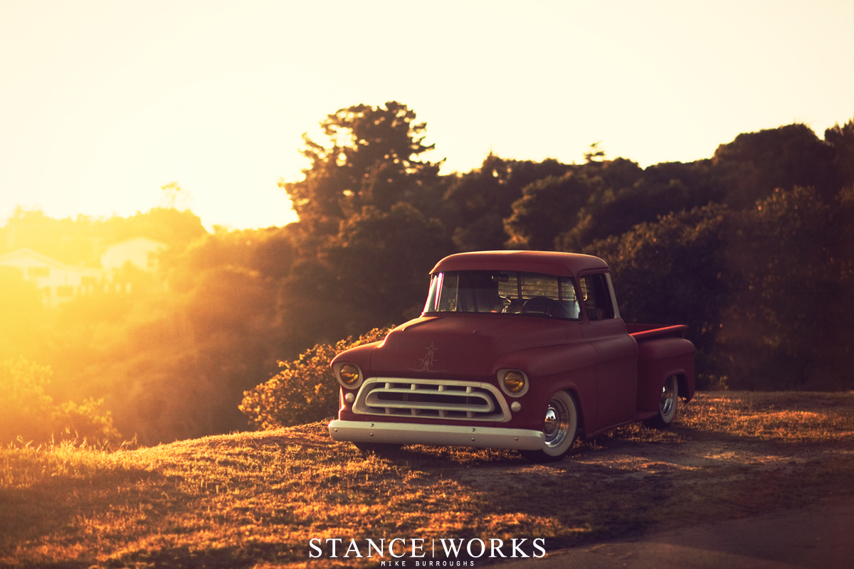 Stance Works Adams Rotors 57 Chevy Pickup 1957 Stepside Truck The