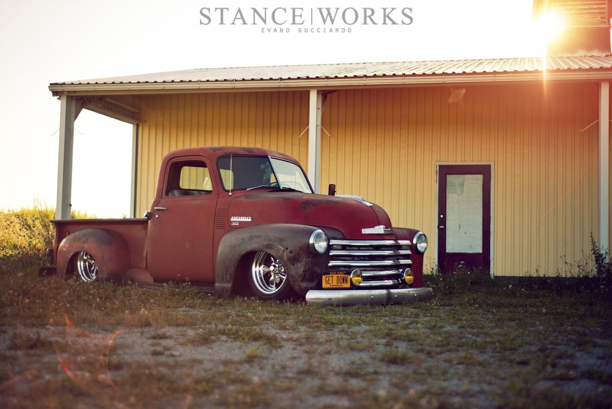 Stance Works Larry Fitzgeralds 1949 Chevy 3100 Pickup Truck Interior