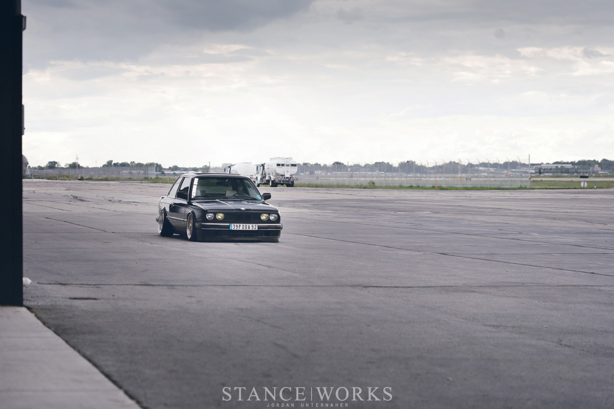 bagged e30 stance