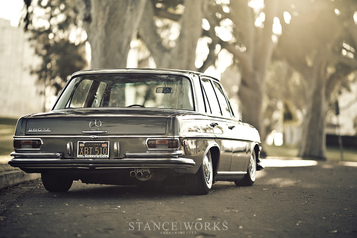 Stance works bagged mercedes benz w108 for Mercedes benz 108