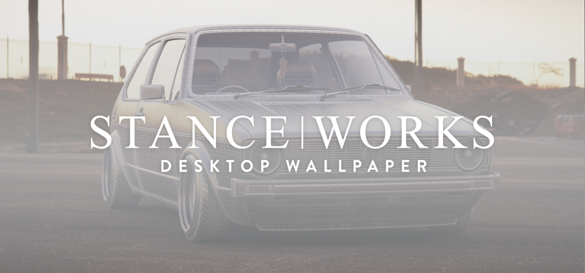 StanceWorks Wallpaper - Gavin Haywood's 3D MK1 VW