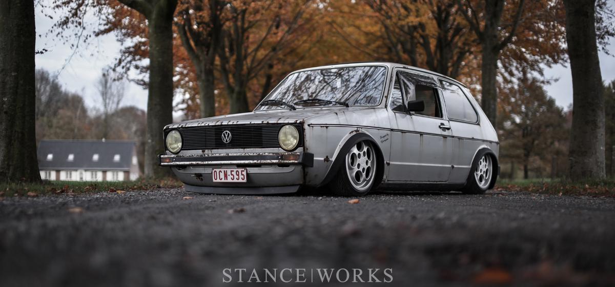 As Low As They Come - Steven Garreyn's Body-dropped 1980 MK1 Volkswagen Golf