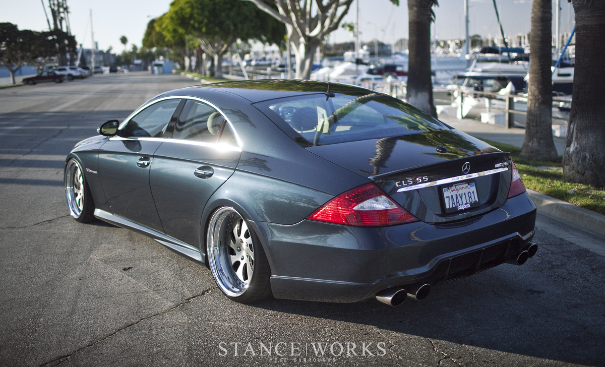 Stance works rotiform 39 s mercedes cls on wrw wheels for Bob ross mercedes benz