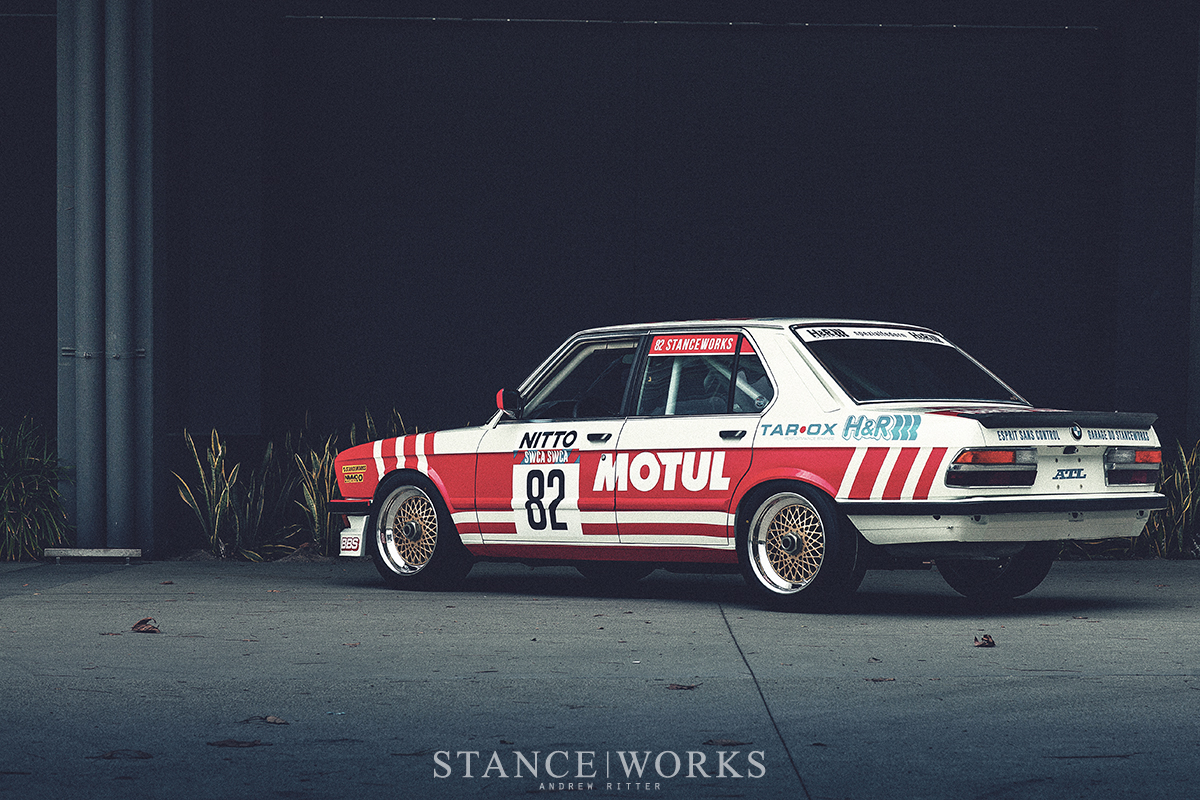 Racing In Car >> StanceWorks BMW E28 M5 Group A Tribute receives a new ...