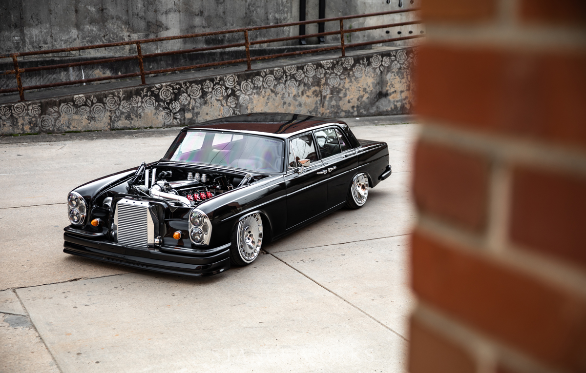 American Standards - The Turbo LS-Swapped 1969 Mercedes W108
